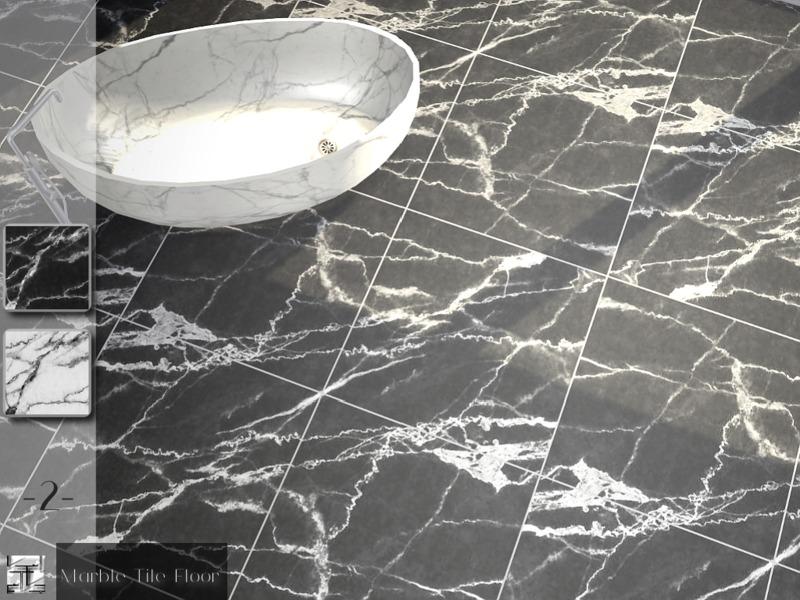 Torques Marble Tile Floor Set