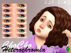 Sims 4 — ChoCho Heterochromia Eye (Earrings) by LJP-Sims — -With 14 Colours -With Custom Thumbnail -Accessory Category