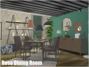 Sims 4 — Rosa Dining Room by QoAct — QoAct Design Workshop | 2017 Dining Room Collection Set Content: - Rosa Dining Chair