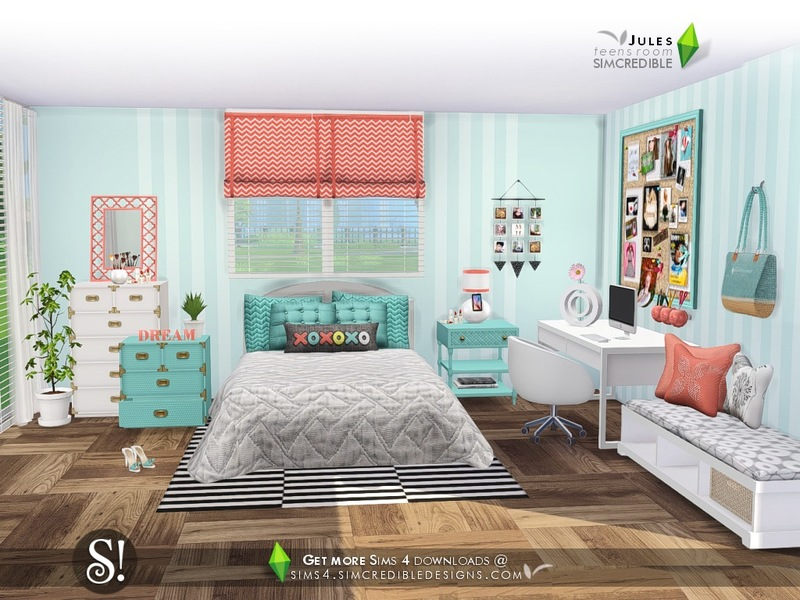 Simcredible 39 s jules for Bedroom designs sims 4