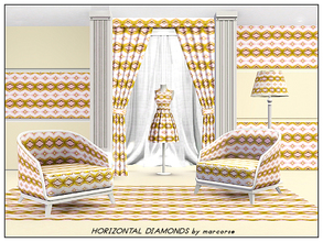 Sims 3 — Horizontal Diamonds_marcorse by marcorse — Geometric pattern: bands of diamond shapes in a horizontal design in