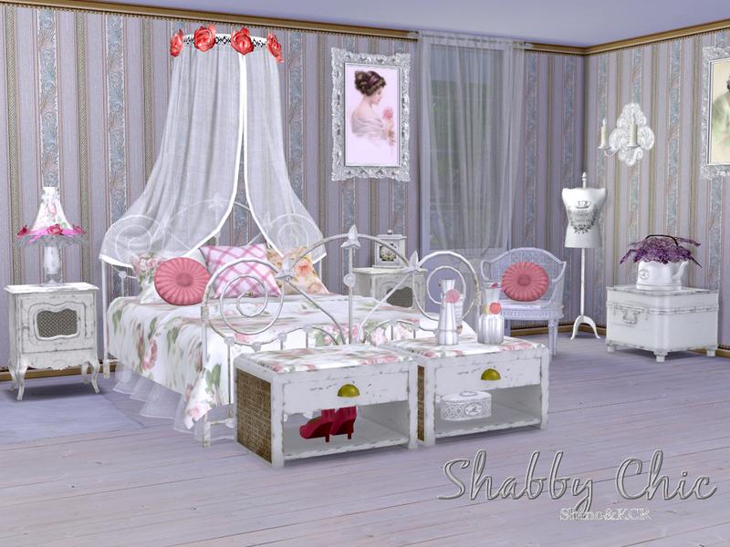 shabby chic bedroom.  ShinoKCR s Shabby Chic Bedroom