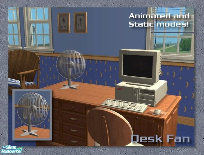Animated Desk Fan : Cyclonesue s animated desk fan