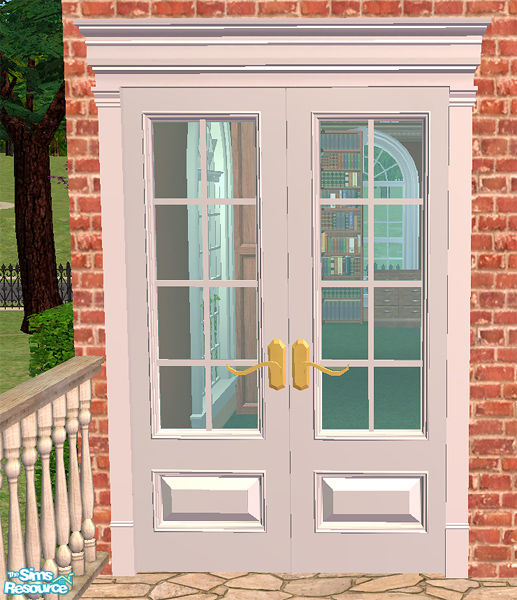 Sims 4 Cc S The Best Windows By Tingelingelater: Phoenix_phaerie's Georgian French Double Doors