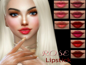 Sims 4 — Rose Lipstick by Baarbiie-GiirL —  - this lipstick works with ALL Skins - this set have 13 colors - looks