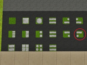 Sims 3 — Grass Imbricated Right by Prickly_Hedgehog — Luscious grass with two overlapping tiles ending on the right