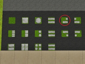 Sims 3 — Grass Imbricated 2 Left by Prickly_Hedgehog — Luscious grass with two overlapping tiles ending on the left,