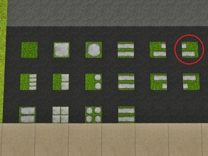 Sims 3 — Grass Imbricated 2 Right by Prickly_Hedgehog — Luscious grass with two overlapping tiles ending on the right,