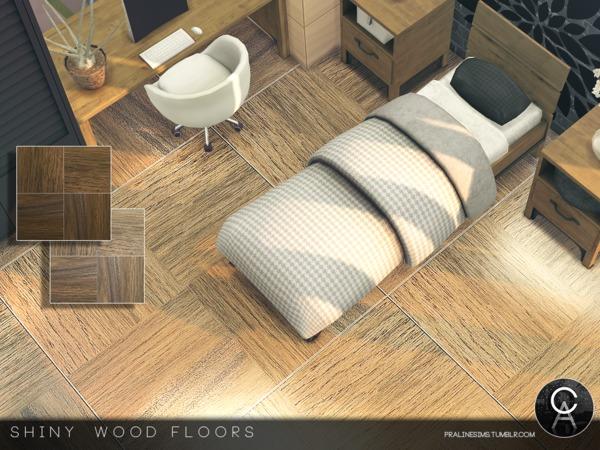 Pralinesims 39 shiny wood floors for Hardwood floors not shiny