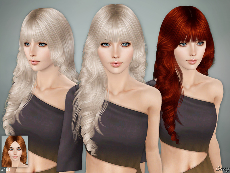 sims 3 hair styles cazy s hairstyle set sims 3 9859