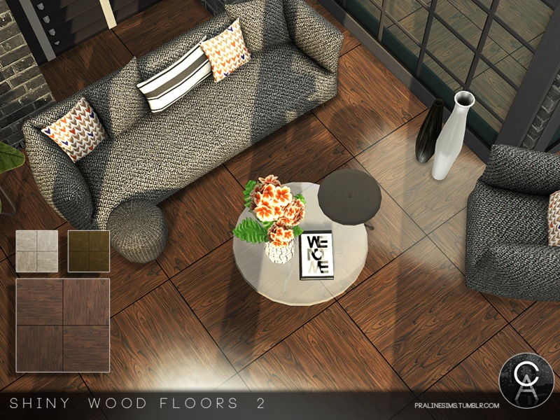 Pralinesims 39 shiny wood floors 2 for Hardwood floors not shiny