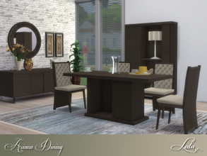 Sims 4 — Ariana Dining  by Lulu265 — The Ariana Dining Set will bring a stylish charm to your dining room. It comes in 3