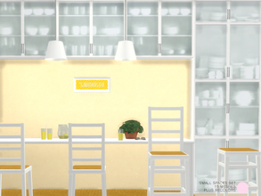 Sims 4 — Small Spaces Set by DOT — Small Spaces Set. Modern and Contemporary dining area for Small Spaces with upper