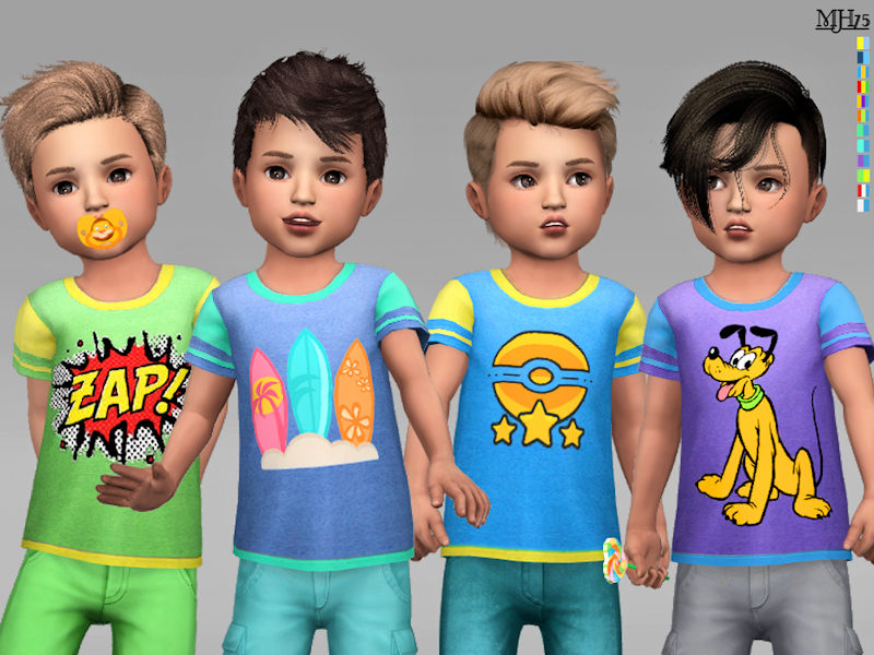 Margeh-75's S4 Cool Boy Toddler Tees