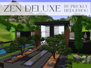 Sims 3 — Zen Deluxe by Prickly_Hedgehog — Move your sims into this luxurious abode tout de suite to have them experience