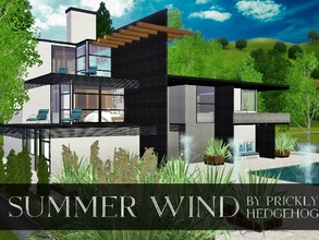 Sims 3 — Summer Wind by Prickly_Hedgehog — Here is a modern home built for comfort and style. Up to 4 sims can live in