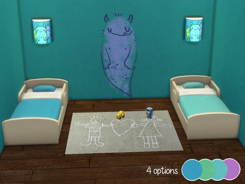Cafesimmer Plain Colour Toddler Bed No 1