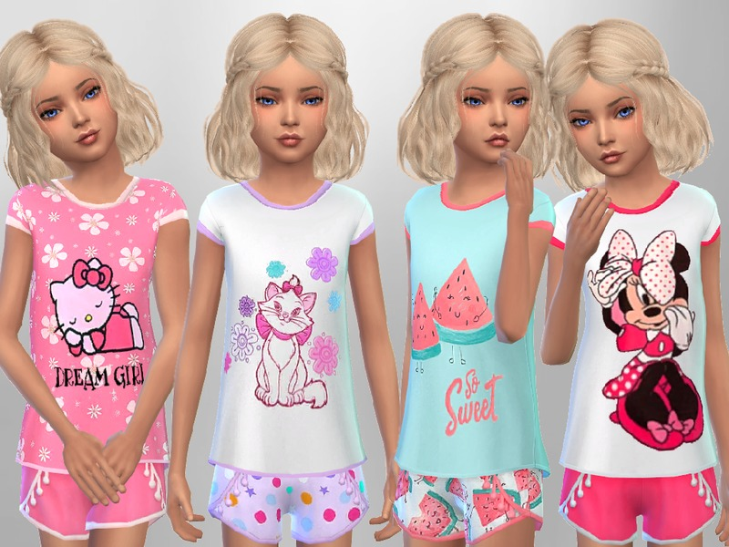 Sweetdreamszzzzz S Girls Summer Sleepwear