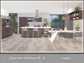 Sims 4 — Gourmet Kitchen Pt. II by ung999 — Part two of Gourmet Kitchen, this set has 16 objects: Cabinet (Deco Oven)