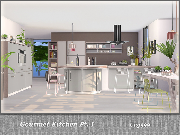 Antique Kitchen Set Sims  Cc