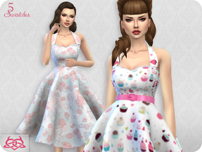 Sims 4 — Sarah dress RECOLOR 3 (Needs mesh) by Colores_Urbanos — 5 recolors - kawaii Need mesh, look at recommended. Your