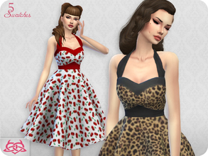 Sims 4 — Sarah dress RECOLOR 7 (Needs mesh) by Colores_Urbanos — 5 recolors - pin up Need mesh, look at recommended. Your