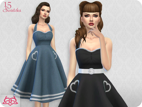Sims 4 — Sarah dress RECOLOR 8 (Needs mesh) by Colores_Urbanos — 15 recolors - vivos Need mesh, look at recommended. Your