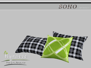 Sims 3 — Soho Pillow (Bedroom) by NynaeveDesign — Soho Bedroom - Soho Pillow Located in: Decor - Rugs Price: 53 Tiles: