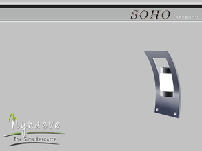 Sims 3 — Soho Wall Fixture by NynaeveDesign — Soho Bedroom - Wall Fixture Located in: Lighting - Wall Lighters Price: 100
