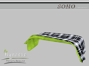 Sims 3 — Soho Blanket (Bedroom) by NynaeveDesign — Soho Bedroom - Soho Blanket Located in: Decor - Rugs Price: 53 Tiles: