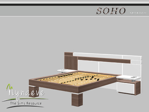 Sims 3 — Soho Bed Frame by NynaeveDesign — Soho Bedroom - Soho Bedframe Mix and Match it with the Soho Bedding. Located