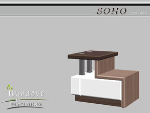 Sims 3 — Soho Sidetable by NynaeveDesign — Soho Bedroom - Coffee Table Located in: Surfaces - Coffee Tables Price: 250