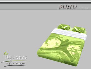 Sims 3 — Soho Bedding by NynaeveDesign — Soho Bedroom - Soho Bedding Mix and Match it with the Soho Bed Frame. Located