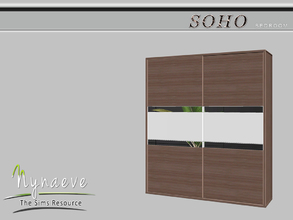 Sims 3 — Soho Dresser by NynaeveDesign — Soho Bedroom - Dresser Located in: Storage - Dressers Price: 1500 Tiles: 1x1