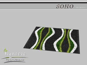 Sims 3 — Soho Bedroom Rug by NynaeveDesign — Soho Bedroom - Rug Located in: Decor - Rugs Price: 53 Tiles: 3x3