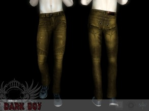 Sims 3 — Dark boy bottom #2 by Shushilda2 — Clothing and genetics set for tough guys Bottom: - new mesh - recolorable