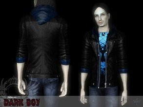 Sims 3 — Dark boy Leather Jacket by Shushilda2 — Clothing and genetics set for tough guys Bottom: - new mesh -