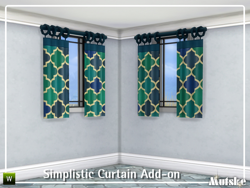 Simplistic curtain add on the sims 4 download for Curtain creator software