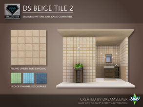 Sims 3 — DS Beige Tile 2 by Dreamseeker — Beige tile pattern made for TSR with the Create a Pattern tool. This pattern