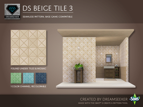 Sims 3 — DS Beige Tile 3 by Dreamseeker — Beige tile pattern made for TSR with the Create a Pattern tool. This pattern