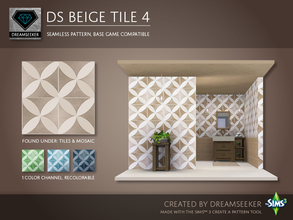 Sims 3 — DS Beige Tile 4 by Dreamseeker — Beige tile pattern made for TSR with the Create a Pattern tool. This pattern