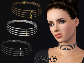 Sims 3 — NataliS TS3 LOVE choker by Natalis — Multi-layered choker with letters LOVE. FT-FA-YA