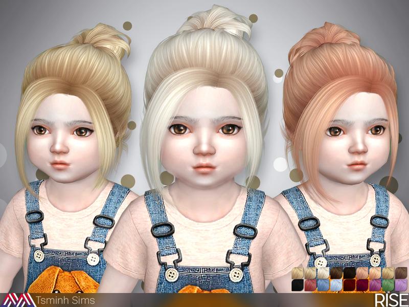 TsminhSims Rise Hair 34 toddler