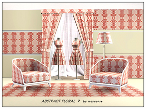 Sims 3 — Abtract Floral 7_marcorse by marcorse — Abstract pattern: floral elements in a vertical abstract design in red