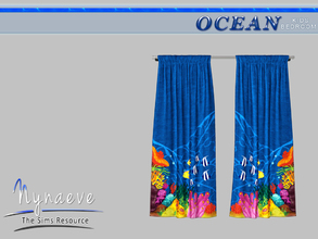Sims 3 — Ocean Kids Curtains by NynaeveDesign — Ocean Kids Bedroom - Curtains Located in: Decor - Curtains and Blinds