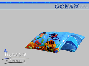 Sims 3 — Ocean Kids Pillow by NynaeveDesign — Ocean Kids Bedroom - Pillows Located in: Decor - Rugs Price: 53 Tiles: 1x1