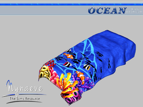 Sims 3 — Ocean Kids Blanket by NynaeveDesign — Ocean Kids Bedroom - Blanket Located in: Decor - Rugs Price: 53 Tiles: 1x3
