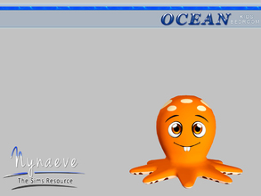 Sims 3 — Ocean Kids Octopus Lamp by NynaeveDesign — Ocean Kids Bedroom - Octopus Lamp Located in: Lighting - Table Lamp