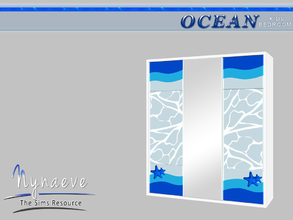 Sims 3 — Ocean Kids Dresser by NynaeveDesign — Ocean Kids Bedroom - Dresser Located in: Storage - Dressers Price: 753