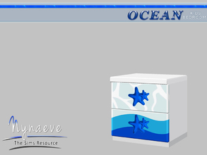 Sims 3 — Ocean Kids Nightstand by NynaeveDesign — Ocean Kids Bedroom - Nightstand Located in: Surfaces - End Tables